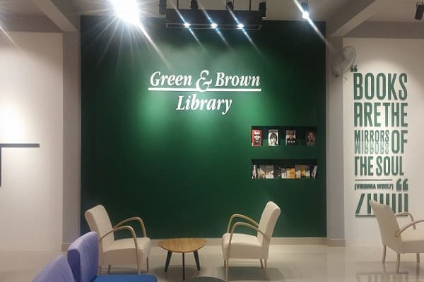 Green & Brown Library