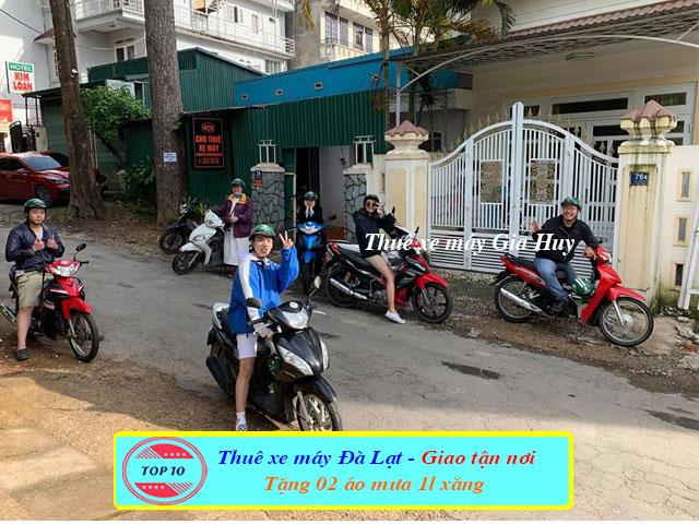 Thuê xe máy giá rẻ Đà Lạt - Chị Hoa