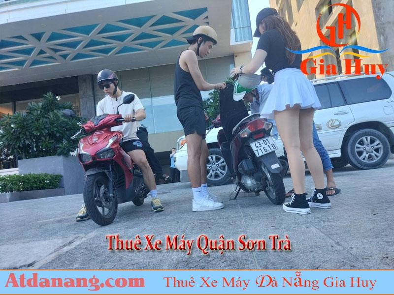 Thuê xe máy Quận Sơn Trà Đà Nẵng GIa Huy Giao xe theo yêu cầu miễn phí